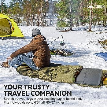S/ábana para Saco de Dormir para Acampada y Viaje Forro T/érmico De Viajes y Campinghoja Mummy Sleeping Bag Liner