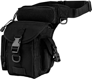 ZTHY Multi-purpose Militar Tactical Drop Leg Bag Tool Fanny Thigh Pack Leg Rig Motorcycle Thermite Camera Versipack Utility Pouch (Black)