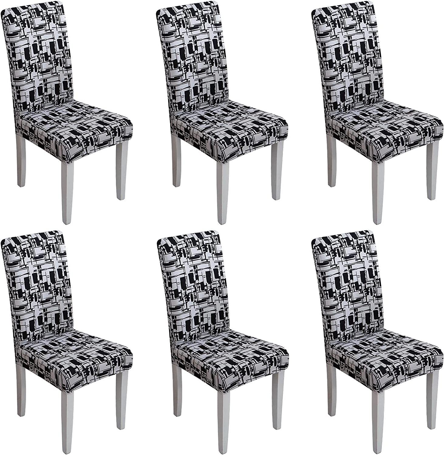 Dining Room Chair Covers Set of Spandex Soft NEW before selling ☆ Fit Raleigh Mall 6 Removable Wa