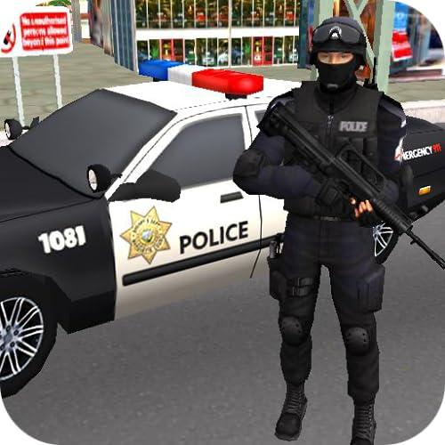 Simulateur de conduite de voiture de police