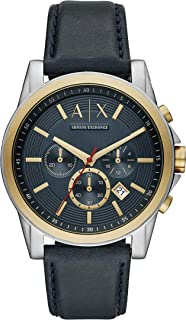 Armani Exchange Men's Blue Leather Watch AX2515
