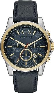 Armani Exchange Men's Blue Leather Watch AX2515