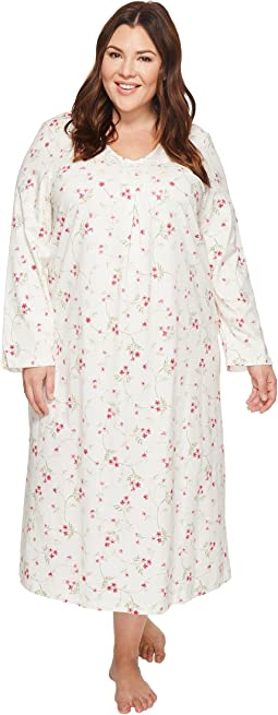 Carole Hochman - Plus Size Soft Jersey Floral Long Gown