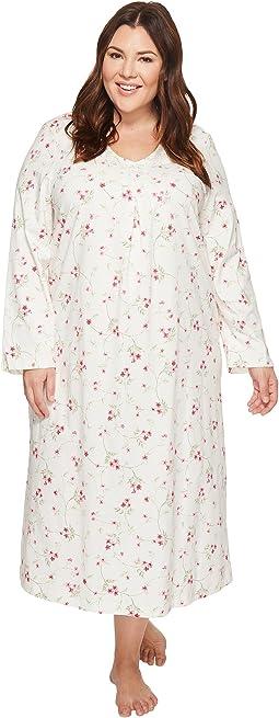 Carole Hochman - Plus Size Soft Jersey Floral Long Gown