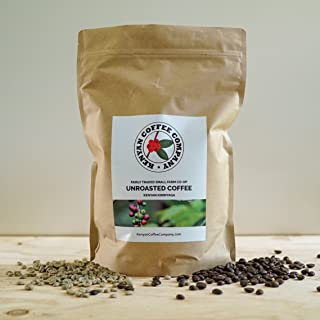 Single Origin Unroasted Green Coffee Beans, AA Grade From Small Regional Kenyan Coffee Farmer Co-Op. Direct Trade (3 pounds)