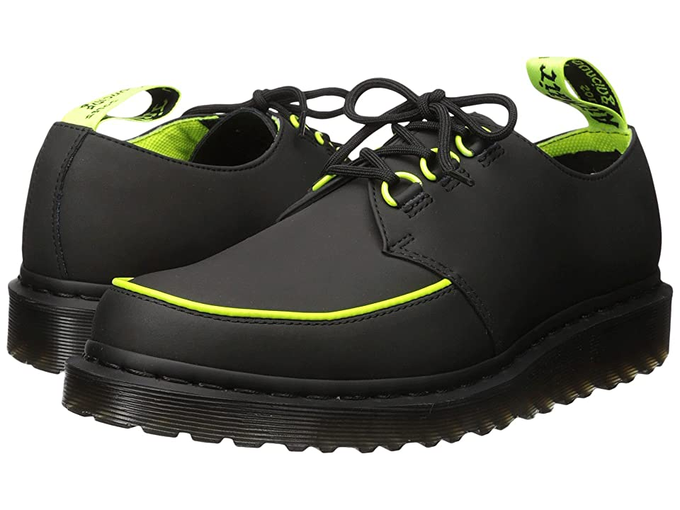 Dr. Martens Ramsey Alt Creeper (Black Concept/388C Neon Yellow PU Binding) Men