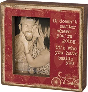 Primitives by Kathy Red Distressed Beside You Box Frame 8