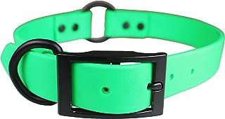 "OmniPet Zeta Ring in Center Dog Collar with Black Metal Hardware, 1"" x 20"", Green"