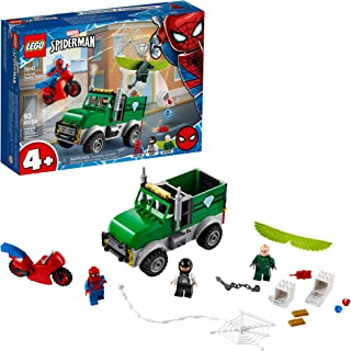 LEGO Marvel Spider-Man Vulture's Trucker Robbery 76147 Playset with Buildable Bank Truck Toy and Superhero Minifigures, Ne...