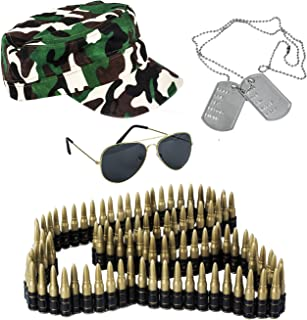 Tigerdoe Army Costume - 4 Pc Set - Soldier Costume - Camo Trooper - Military Costume - Combat Costume