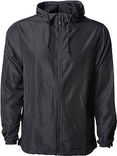 Global Men's Hooded Lightweight Windbreaker Winter Jacket Water Resistant Shell