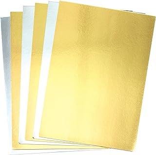 Baker Ross AC375 Pack de Cartulinas Metalizadas A4 Doradas y Plateadas (Pack de 20) para Manualidades Infantiles