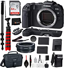 Canon EOS RP Mirrorless Digital Camera (Body Only) 14PC Professional Bundle Package Deal - SanDisk Ultra 64gb SD Card + Canon Camera Bag + More