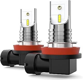 CCAUTOVIE LED Fog Light H11,H9 H8 H11 LED Fog Light Bulbs,Extremely Brightness LED Bulbs for Car,CSP 6SMD Chips 1500LM 6000k