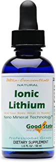 Good State Liquid Ionic Lithium Ultra Concentrate (10 drops equals 500 mcg - 100 servings per bottle)