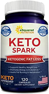 Keto Spark - Supplement for Weight Loss (120 Capsules) - Pills Approved for The Ketogenic & Paleo Diet - Helps Stay in Ketosis, Increase Energy & Focus - Caffeine & Ketones for Women & Men