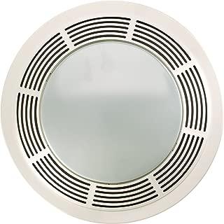 Broan-Nutone 8664RP Exhaust Fan and 100-Watt Incandescent Light with Glass Lens, Bathroom Ceiling Ventilation Fan, 100-Watts, 100 CFM