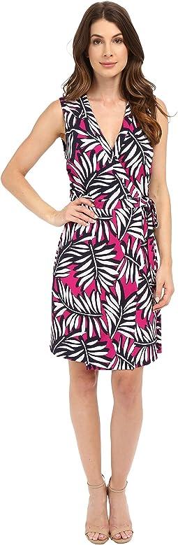 Palm Reader Sleeveless Wrap Dress