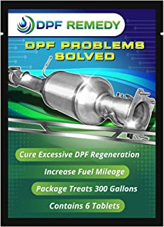 DPF Remedy Easy to Use Tablets Immediately Reduces DPF Regeneration Cycles for Diesel RVs, Semi-Trucks, Pickups, Boats. (6-Pack. 50-Gal. Tablets)