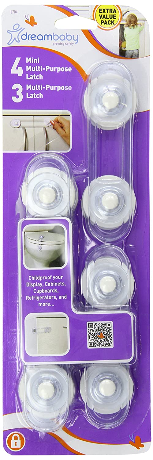 Courier shipping free Dreambaby 25% OFF 3 Multi Purpose 4 Mini Latches and