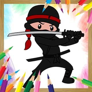 Ninja Coloring Book Game