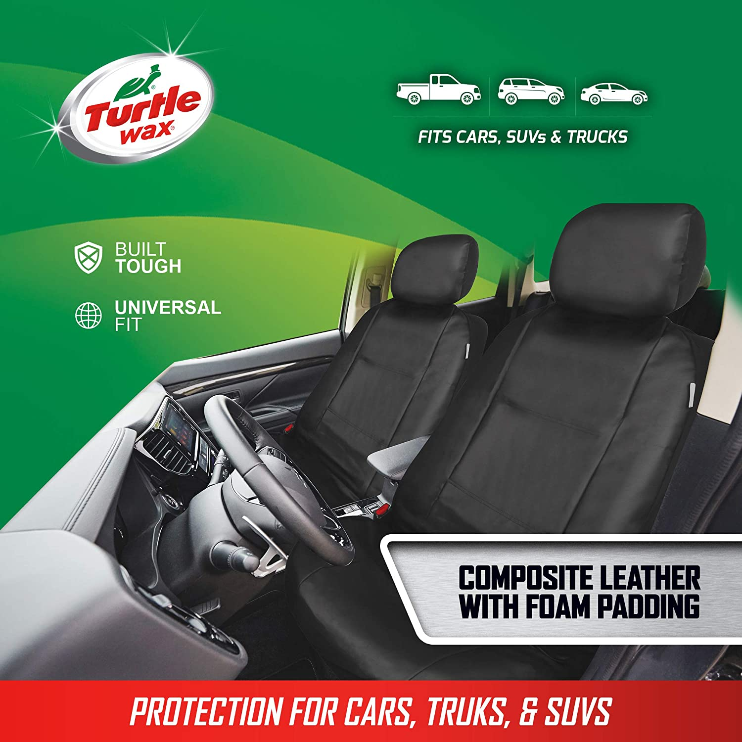 Turtle Wax Padded Car Seat Protector with Organizer