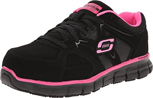 Skechers for Work Wohommes Synergy Sandlot Lace-Up, noir rose, 9 XW US