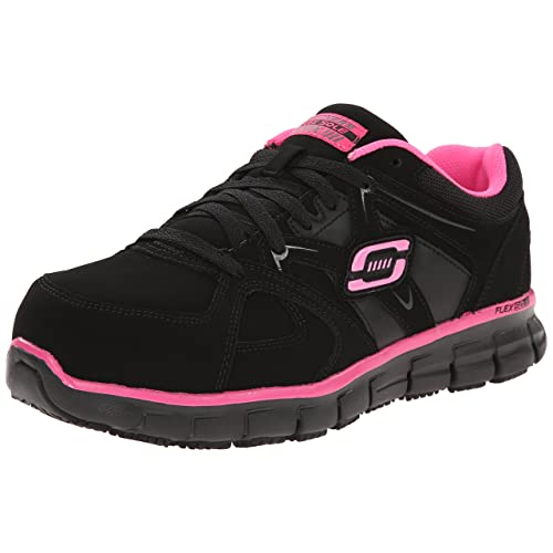 Skechers for Work Womens Synergy Sandlot Alloy Toe Lace-Up Work Shoe