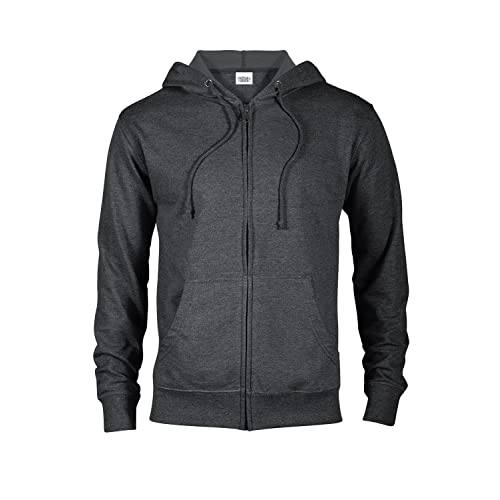 9f031a6e008658 Casual Garb Hoodies for Men Lightweight Fitted Heather French Terry Full  Zip Hoodie Hooded Sweatshirt