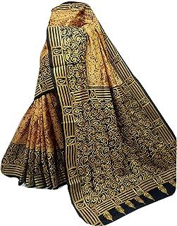 بلوزة ساري نسائية بنغال هندي من الحرير الخالص Bnaglori لحفلات الزفاف الساري كامل الجسم خيط عمل يدوي الكناثا 911a