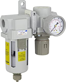 PneumaticPlus SAU420-N04G Compressed Air Filter Regulator Combo 1/2