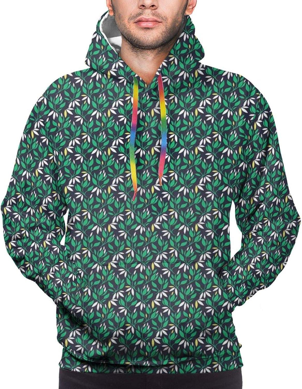 TENJONE Men's Hoodies Sweatshirts,Abstract and Modernistic Design Irregular Order Cartoon Shapes
