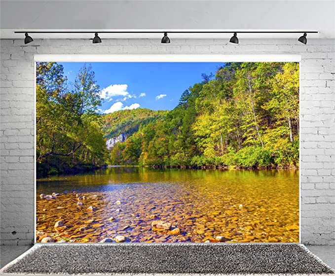 Landscape 10x15 FT Photo Backdrops,Rainbow Over Mountain Lake Reflection in Clear Water Dreamy Spots on Earth Photo Background for Photography Kids Adult Photo Booth Video Shoot Vinyl Studio Props