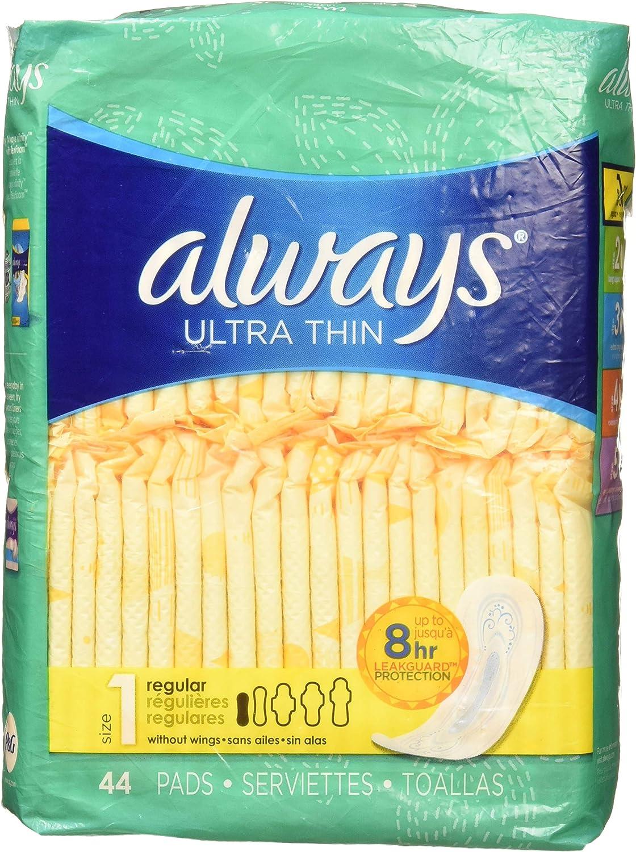 Always ULT Regular Max 68% OFF dealer Thin Reg 44ct Ultra Pad Size