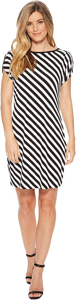 Tulip Sleeve Striped Dress