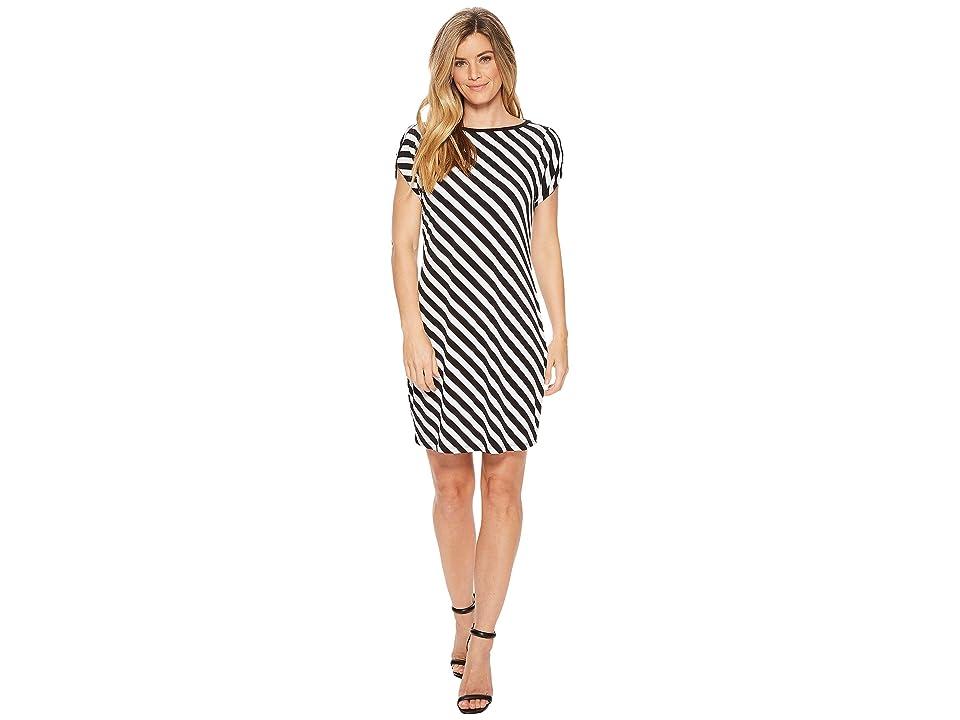 MICHAEL Michael Kors Tulip Sleeve Striped Dress (Black/White) Women