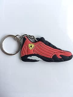 Jordan Retro 14 Ferrari Sneaker Keychain Shoes Keyring AJ 23 OG