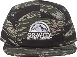 Logo Tiger Stripes Woodland Camo Adjustable Five Panel Cap