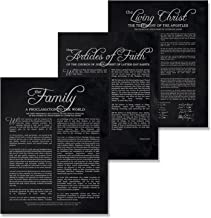 11x14 LDS Prints - Set of 3 Mormon Art Posters//Family Proclamation//The Living Christ//The Articles of Faith//Lds Presents For Women Men//Wedding//Anniversary//Housewarming//Home