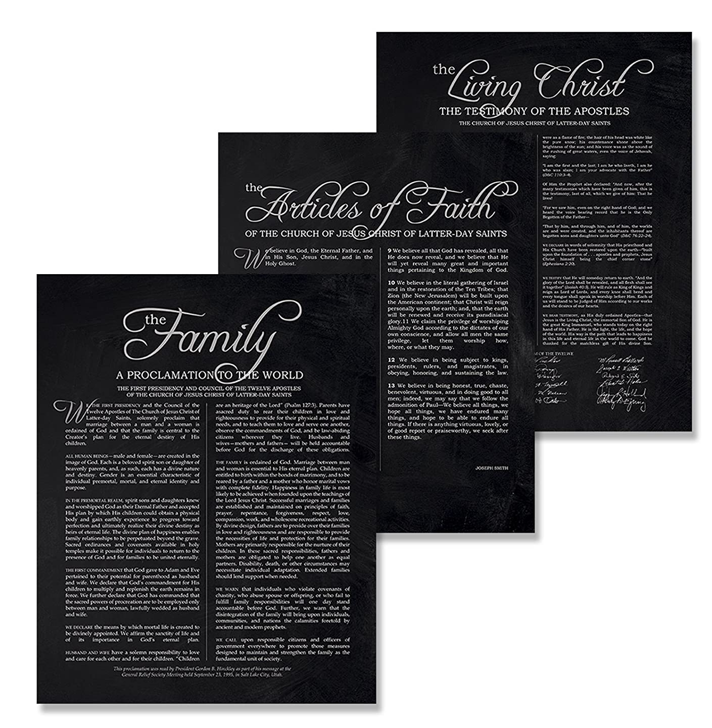 11x14 LDS Prints - Set of 3 Mormon Art Posters//Family Proclamation//The Living Christ//The Articles of Faith//Lds Presents For Women Men//Wedding//Anniversary//Housewarming//Home sakiffhuxmd1