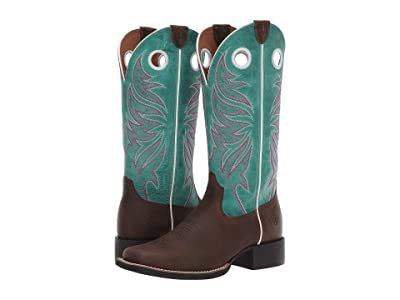 Ariat Round Up Ryder (Sassy Brown/Miami Blue) Cowboy Boots