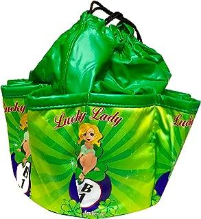 Lucky Lady Green Bingo Bag,