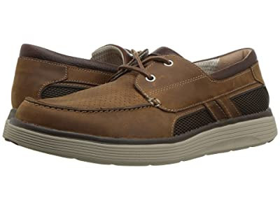 Clarks Un Abode Step (Dark Tan Leather) Men
