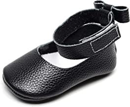 Bebila Ankle Strap Genuine Leather Baby Girls Sandals Bowknot Mary Janes Baby Shoes Toddler Moccasins
