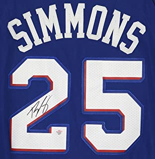 4be5192ba Ben Simmons Philadelphia 76ers Signed Autographed Blue  25 Jersey PAAS COA