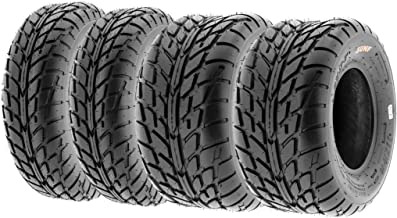 Set of 4 SunF A021 TT Sport ATV UTV Flat Track Tires 20x7-8 Front & 18x9.5-8 Rear, 6 PR, Tubeless