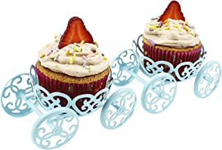 Zoie + Chloe Princess Carriage Cupcake Stand Holder Display - 2 Pack