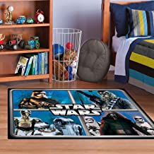 Star Wars Rug HD ep 7 Chewbacca, R2D2, Captain Phasma, Kylo Ren Bedding Wall Decals Blue Area Rugs , 100cm x 140cm
