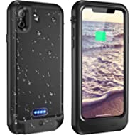 Vapesoon iPhone X/iPhone Xs Waterproof Battery Case Qi Wireless Charging Compatible 5.8-inch...