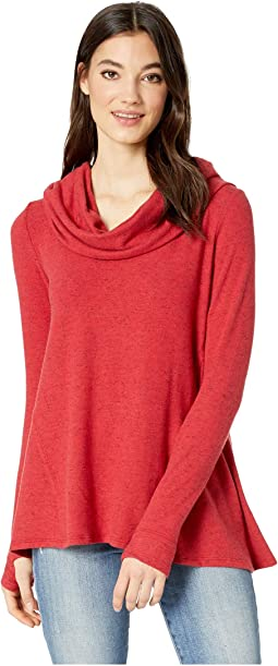 Madison Brushed Long Sleeve Convertible Top with Thumbholes